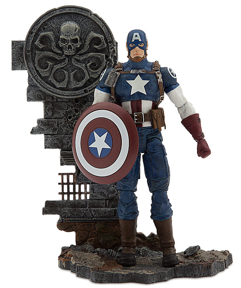 marvel select black panther avenging cap up for order marvel toy news. Black Bedroom Furniture Sets. Home Design Ideas